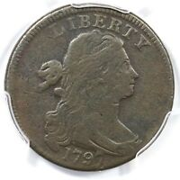 1797 S-143 R-5 PCGS VF DETAILS DRAPED BUST LARGE CENT COIN 1C