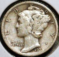 SILVER MERCURY DIME   1923   EARLY DATES    $1 UNLIMITED SHIPPING