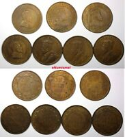 CANADA LOT OF 7 BRONZE COINS 1907 1915 1 CENT VF XF CONDITION