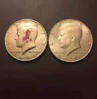 SET OF 1989 90 P JOHN F KENNEDY HALF DOLLAR MINTED IN PHILADELPHIA CIRCULATED