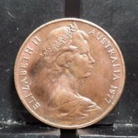 CIRCULATED 1977 2 CENTS AUSTRALIAN COIN  112317 1