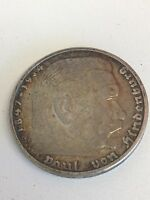 GERMANY THIRD REICH 5 MARK SILVER COIN 1935 D