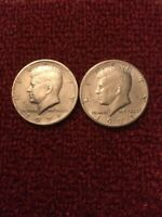 SET OF TWO 1971 D&P JOHN F. KENNEDY HALF DOLLAR COIN