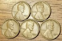 1927S 1928S 1929S 1930S 1935S LINCOLN WHEAT CENT PENNY GOOD TO  FINE