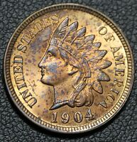 1904 INDIAN HEAD CENT   LUSTROUS GEM UNCIRCULATED