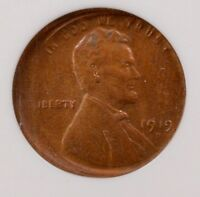 NGC 1C 1919-D WHEAT CENT STRUCK 10 OFF-CENTER MINT STATE 60 RB