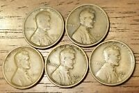 1919D 1919S 1920 1920D 1920S LINCOLN WHEAT CENT PENNY GOOD TO  GOOD