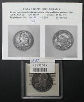 1820/19 CAPPED BUST HALF DOLLAR ANACS XF 40   1820 OVER 19