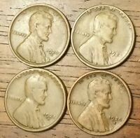 1920S 1924S 1925S 1928S LINCOLN WHEAT CENT PENNY GOOD TO  GOOD