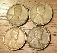 1919 1919D 1919S 1920D LINCOLN WHEAT CENT PENNY  GOOD TO  FINE