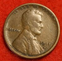1915-S 1C LINCOLN WHEAT CENT PENNY F DETAILS COLLECTOR COIN CHK OUT STOR LW1648