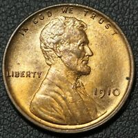 1910 LINCOLN WHEAT CENT PENNY   LUSTROUS