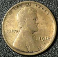 1914 S LINCOLN WHEAT CENT PENNY   CLEANED
