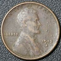 1912 S LINCOLN WHEAT CENT PENNY   NICE DETAILS   CORROSION