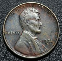 1931 S LINCOLN WHEAT CENT PENNY   ENVIRONMENTAL DAMAGE
