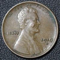 1910 S LINCOLN WHEAT CENT PENNY   NICE DETAILS   REV PUNCH