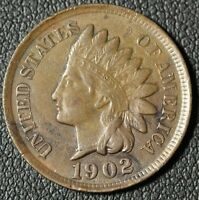 1902 INDIAN HEAD CENT PENNY   FULL LIBERTY  LOTS OF DETAILS IN DIAMONDS