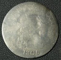 1806 DRAPED BUST SILVER QUARTER   DAMAGE