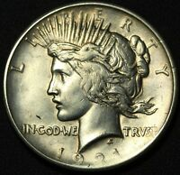 1921 PEACE SILVER DOLLAR   HIGH RELIEF   CLEANED