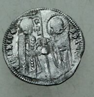 L6 MEDIEVAL SILVER COIN  22MM 1 35G RS CHRISTUS