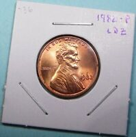 1982 P LINCOLN MEMORIAL CENT LARGE DATE ZINC LDZ BU UNCIRCULATED RED PENNY 736