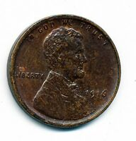1916-P ABOUT UNCIRCULATED LINCOLN CENT