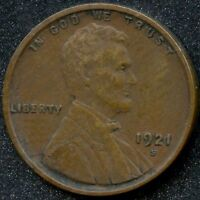 1921-S EXTRA FINE  1C LINCOLN WHEAT CENT