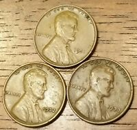 1931 1932 1933 LINCOLN WHEAT CENT PENNY  GOOD TO  FINE