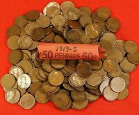 1919-S LINCOLN WHEAT CENT 50 COINS/ROLL BETTER DATE AV CIRC COLLECTOR GIFT