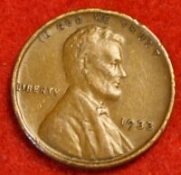 1933-P 1C LINCOLN WHEAT CENT PENNY EXTRA FINE  COLLECTOR COIN CHECK OUT STORE LW1857