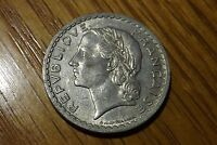 1948 FRANCE: 5 FRENCH FRANCS COIN LAUREATE HEAD AS PICTURED