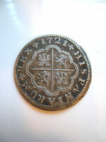 1721 SEVILLE SPAIN 2 REALES SILVER COIN HIGH GRADE KM 307