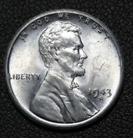 1943 S UNCIRCULATED STEEL CENT