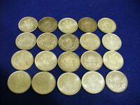 LOT OF 20  PRE 1968 CANADA HALF DOLLAR SILVER COINS 50 CENT PIECES   NOT JUNK  A