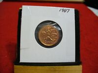 1987  CANADA  1  CENT COIN  PENNY  PROOF LIKE  HIGH  GRADE  SEALED  SEE PHOTOS