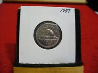 1987  CANADA 5 CENT COIN  NICKEL  PROOF LIKE     87   HIGH  GRADE  SEALED