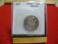 1969 CANADA  HALF  DOLLAR TOP GRADE  50 CENT PIECE  69  PROOFLIKE  SEALED