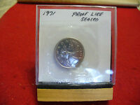 1971 CANADA QUARTER  DOLLAR TOP GRADE  25 CENT PIECE  71  PROOFLIKE  SEALED