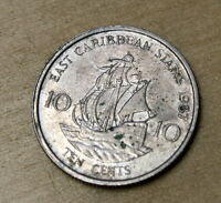 1987 EAST CARIBBEAN STATES 10 CENTS