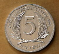 2004 EAST CARIBBEAN STATES 5 CENTS