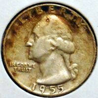 WASHINGTON SILVER QUARTER   1955   $1 UNLIMITED SHIPPING.