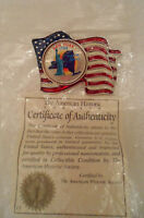 2001 NEW YORK STATE QUARTER US FLAG PATRIOTIC BROOCH PIN PLEDGE OF ALLEGIANCE