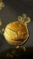 : :   2016 CIRCULATED OLYMPIC TEAM GB SWIMMING/SWIMMER 50P COIN EX COND