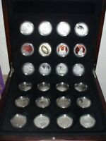 2003 LORD OF THE RINGS 24 SILVER PROOF COINS SET