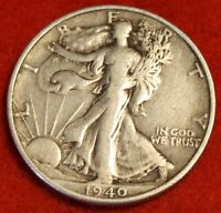 1940-S 50C WALKING LIBERTY HALF DOLLAR EXTRA FINE  BEAUTIFUL COIN CHECK OUT STORE WL345