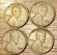 1930 1930D 1930S 1932 LINCOLN WHEAT CENT PENNY  GOOD TO  FINE