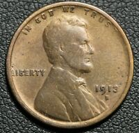1913 S LINCOLN WHEAT CENT PENNY - CLEANED