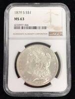 1879-S $1 MORGAN SILVER DOLLAR NGC MINT STATE 63