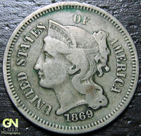 1869 3 CENT NICKEL PIECE  --  MAKE US AN OFFER  Y9035