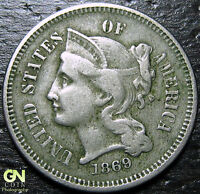 1869 3 CENT NICKEL PIECE  --  MAKE US AN OFFER  Y9038